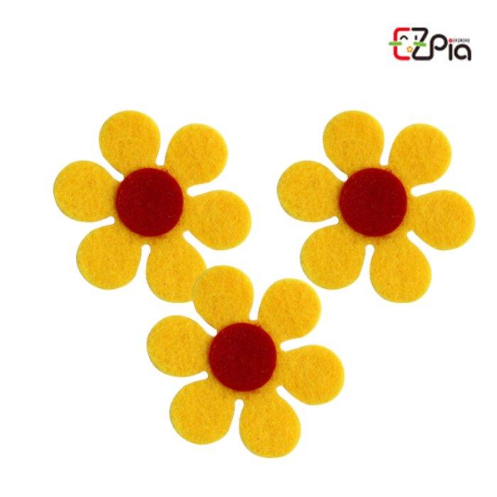 [오피시나]펠트꾸미기-6잎꽃 노랑/펠트 꽃