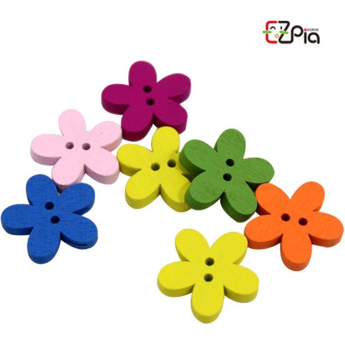 [오피시나] 나무단추-칼라 꽃 단추