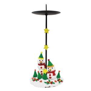 [아트공구] [툭툭이네0107]크리스마스 촛대 만들기_클레이 포함
