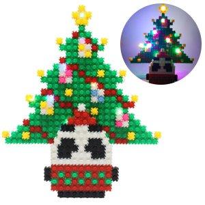 툭툭블럭 크리스마스 무드등_판디 트리 펜꽂이